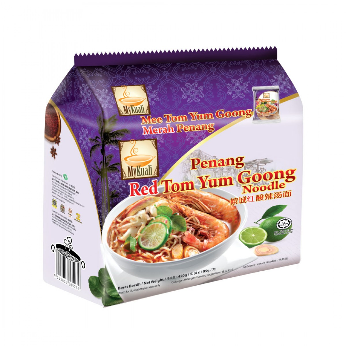 MyKuali Penang Red Tom Yum Goong Instant Noodle